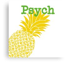 Minimalist Psych TV Show Pop Culture Lime Yellow Fun Green Pineapple Canvas Print