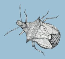 Stink Bug Pen and Ink Kids Tee
