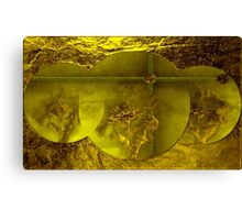 (Yellow )Gold -  Art + Products Design  Canvas Print