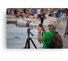 Photographer - Quicksilver Pro - Snapper Rocks - Australia Canvas Print