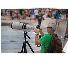 Photographer - Quicksilver Pro - Snapper Rocks - Australia Poster