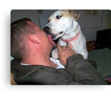 jerzy giving daddy KISSES Canvas Print