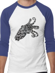 Blue-Ringed Octopus Pen and Ink, Inverted Men's Baseball ¾ T-Shirt