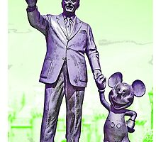 Walt and Mickey iPhone Cases and Skins Green by kellyblackie