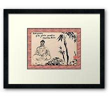 Dark Secrets (garden Buddha). Haiga Framed Print