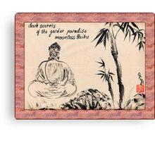 Dark Secrets (garden Buddha). Haiga Canvas Print