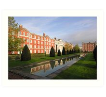 Early morning, The King's House, Peninsula Barracks, Winchester, southern England Art Print