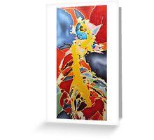 spring (red). 24''x48''. oil on wood. adam sturch Greeting Card