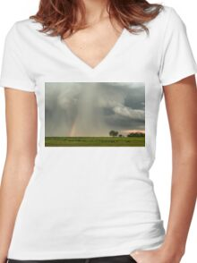 Stormin Rainbow Women's Fitted V-Neck T-Shirt