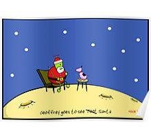 Geoffrey Goes To See Santa Poster