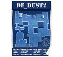 CS:GO de_dust2 Blueprint Poster Poster