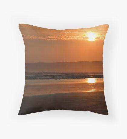 Sunset at Waratah Bay Throw Pillow