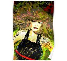 'Blondie' Original 3D art work by Simon Pritchard Poster