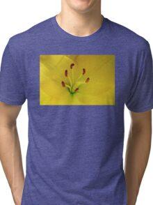 Yellow Lily Macro Tri-blend T-Shirt