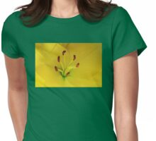 Yellow Lily Macro Womens Fitted T-Shirt