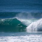 Burleigh Heads Barrel - Gold Coast - Australia by Anthony Wilson