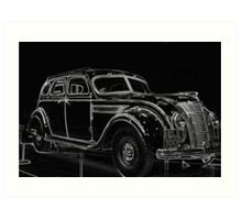 Old Car (Standard Eight) Art Print