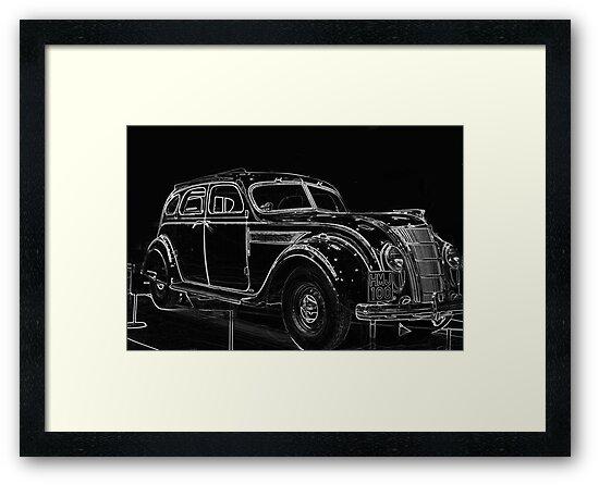 Old Car (Standard Eight) by Trevor Kersley