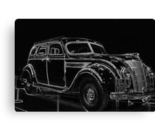 Old Car (Standard Eight) Canvas Print