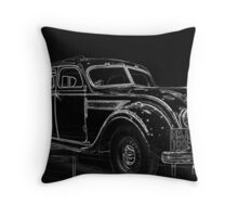 Old Car (Standard Eight) Throw Pillow