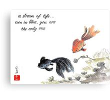 A stream of Life ... Haiga Metal Print