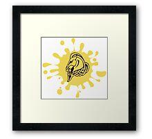 Skyrim Whiterun Splat Logo Framed Print