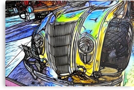 Redfield Fractalius Old Car by Trevor Kersley