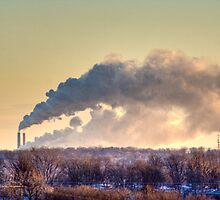 Early Morning Smoke Stacks (HDR) by Nicholas Stankus