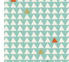 Triangles - Mint Tangerine by Sol Noir Studios