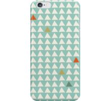 Triangles - Mint Tangerine iPhone Case/Skin