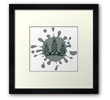 Skyrim Winterhold Splat Logo Framed Print