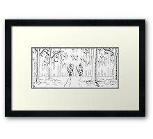 "VIKINGS ""the hunters"" Framed Print"