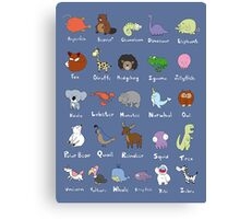 The Animal Alphabet Canvas Print