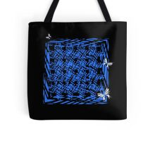 Butterflies and Blue Surrealistic Cube Tote Bag