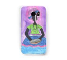 Baiana from Brazil holding a plate Samsung Galaxy Case/Skin