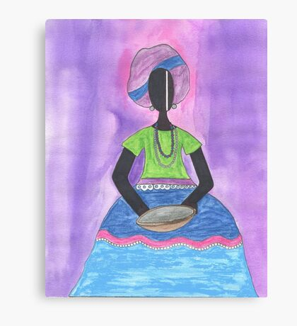 Baiana from Brazil holding a plate Canvas Print