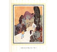 Sinbad the Sailor and other Tales of the Arabian Nights - 1914 - Edmund Dulac - 0075 - Aladdin finds the Magic Lamp Photographic Print