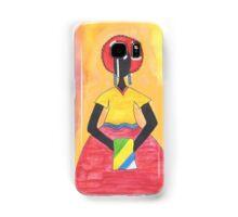 Baiana from Brazil holding a flag Samsung Galaxy Case/Skin
