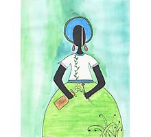 Baiana from Brazil holding a vase Photographic Print