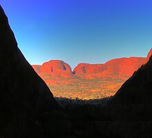 View from Kata Tjuta. by rhodesography