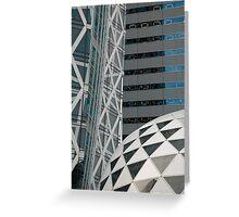 Office Buildings, Tokyo  Greeting Card