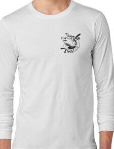 Vintage Shark Tooth Logo Long Sleeve T-Shirt