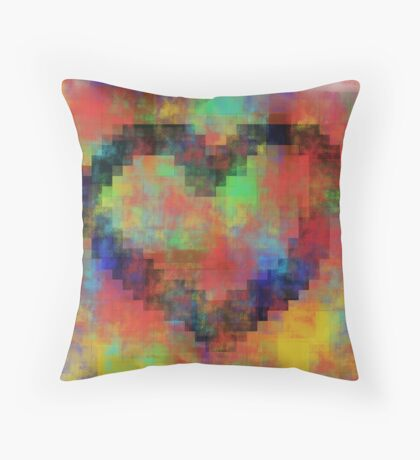Pixel Love Throw Pillow
