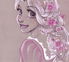 Toned Paper Rapunzel by CherryGarcia