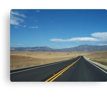 A country drive Canvas Print