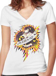 Sharktits Women's Fitted V-Neck T-Shirt
