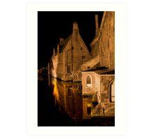Old House (Brugge, Belgium)  Art Print
