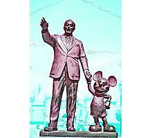 Walt and Mickey Samsung Galaxy Cases and Skins Aqua Photographic Print