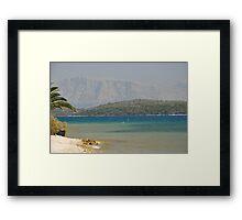 Sea view Greece Framed Print