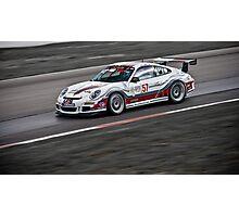 White Photography Transportation Racing Porsche 911 GT3 Challenge Intense Photographic Print